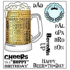 Darcie's CHEERS Clear Stamp Set pol321 Preview Image