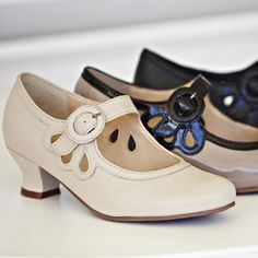 Valetta vintage style shoes - At last a reasonable style and heel height.