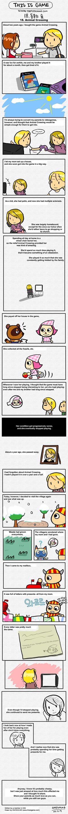 Here's a short comic someone made about how their mom came to enjoy video games. | Community Post: Can You Make It Through This Post Without Crying?