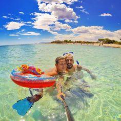 Selfie in acqua