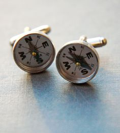 Compass cuff links. Freaking cool!