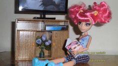 Como fazer um rack estante p/TV para boneca Monster High, Pullip, Barbie...