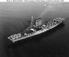 USS Lexington CV-2 October 1941