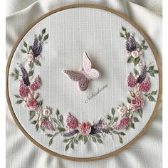 Wonderful Ribbon Embroidery Flowers by Hand Ideas. Enchanting Ribbon Embroidery Flowers by Hand Ideas. Hand Embroidery Flowers, Flower Embroidery Designs, Silk Ribbon Embroidery, Crewel Embroidery, Embroidery Hoop Art, Hand Embroidery Patterns, Cross Stitch Embroidery, Embroidery Tattoo, Embroidery Patches