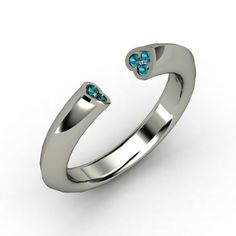Two hearts ring. put your birthstones in it
