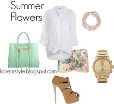 """""""Summer Flowers!"""" by karenrstyling on Polyvore"""