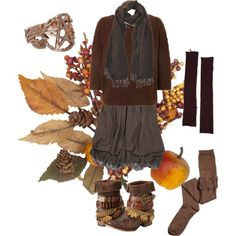"""Fall Mori Witch"" by morimorningstar on Polyvore - - those boots!!!!"