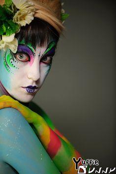 yuffiebunny Modeling for Unique Photo. Body Art by Athena Body Art. Photo by Mike Zawadzki.