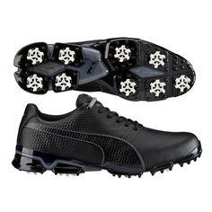 Puma TitanTour Ignite Golf Shoes Black-Grey SS16