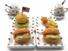 Dollhouse Miniature Food Fried Chicken French by WonderMiniature, $7.99