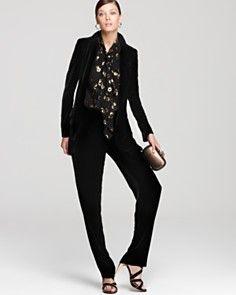 DIANE von FURSTENBERG Morana Top Gem, Yvan Silk Rayon Velvet Jacket & more