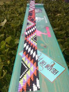 Native Beading Patterns, Native Beadwork, Native American Beadwork, Beaded Bracelet Patterns, Bead Loom Patterns, Beaded Headbands, Beaded Belts, Beading Ideas, Beading Projects