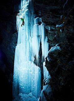 Blasting Ice Walls With Lights Makes for Epic Climbing Photos | Raw File | Wired.com: