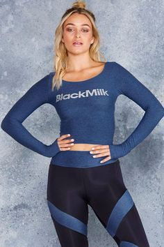 STUDIO BLUE LONG SLEEVE TOP - Limited - Active Wear - Activewear - Shop