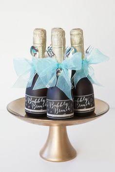 DIY Bubbly Brunch Bottle Printables for Your Party or Get Together