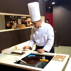 Godiva Chocolatier, Chef Jean, joined us at Salon du Chocolat in #Brussels