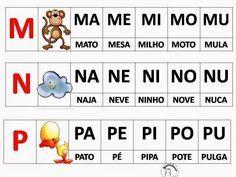 ALFABETIZAÇÃO CEFAPRO DE PONTES E LACERDA : METODO FONICO ALFABETARIO Numbers Preschool, Alphabet Crafts, Syllable, Letters And Numbers, Back To School, Homeschool, Language, Parenting, Teaching
