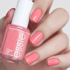 """essie on Instagram: """"Brighten up your Wednesday with a pretty pink peach #loungelover mani. Photo by @supidadupi . Snag your #essiespring2016 shade via the link in our profile."""""""