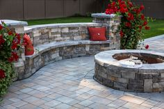 Gather around a Cambridge Fire Pit this season. Who would love to be here? This amazing outdoor living space features beautiful Cambridge Pavingstones with ArmorTec and a Cambridge Fire Pit Kit. Installation: Fine Design Landscapes