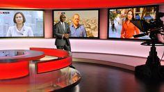 Komla Dumor in the BBC World News studio
