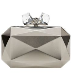 Faceted Rectangle Metal Clutch by Overture Judith Leiber #matchesfashion