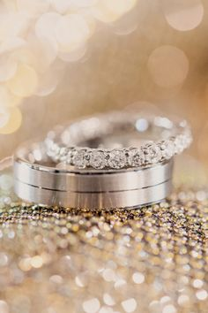 """Say """"I Do"""" To Gorgeous Wedding Bands: http://www.stylemepretty.com/2015/11/16/wedding-rings-that-wow/"""