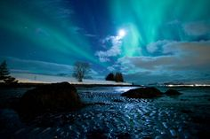Aurora Borealis and moonlight by Tor Even Mathisen on 500px