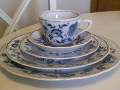 Blue Danube China-5pc Table Setting | eBay As a bride I was given 12 of these settings in 1949. Only 2 pieces have been broken. At that time the 5 pc settings cost $12