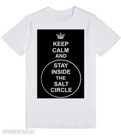 Stay Calm and Stay Inside the Salt Circle #supernatural #witchcraft #wicca #witch #black