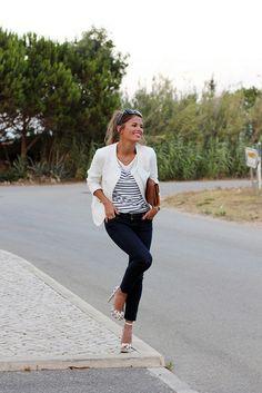 Chaqueta/Jacket- Zara (SS 13) Jeans – 7FAM Tacones/Heels – Zara (SS 13) Top – Sheinside Clutch – Vintage Gafas de sol/Sunglasses – Marc Jacobs