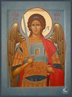Religious Images, Religious Icons, Religious Art, Church Icon, Paint Icon, Byzantine Icons, Archangel Michael, Orthodox Icons, Angel Art