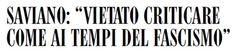 Informazione Contro!: Gufo chi molla: Saviano attacca Matteo e i forzati...