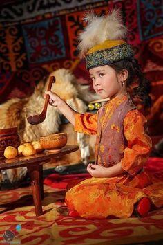 A little Kyrgyz girl.