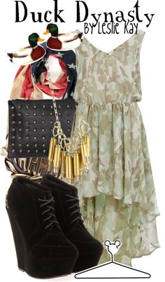 """Duck Dynasty"" by lalakay ❤ liked on Polyvore"