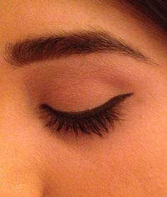 My look today. 7/10/13 Simple precision eyeliner. MAC black track with 211 brush