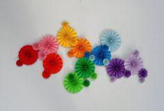 Rainbow Themed Party Pinwheels Rainbow Dash by WhimzyLife on Etsy, $40.00