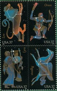 2005 37c Constellations, Block of 4 Scott 3945-48 Mint F/VF NH  www.saratogatrading.com