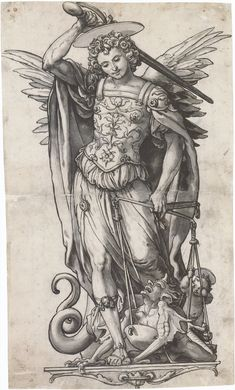The Archangel Michael Weighing Souls, by Hans Holbein the Younger
