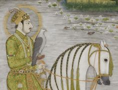 The Emperor Muhammad Shah, equestrian, in the hunting field. India, ca. 1720