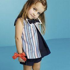 Nueva Colección Primavera-Verano 2015 de #Trasluz #Moda, Moda Infantil. New Collection Spring-Summer 2015 by Trasluz #CasualWear, Kids Clothing, Blouse, Reversible Short