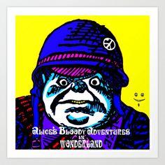 Alice's Bloody Adventures in Wonderland Art Print by Tweedle Guns - $15.60