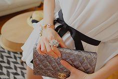 Chanel clutch.