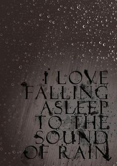 Rainy days and nights... The sound of the rain falling on the steel roof of my house is a comforting sound that I love.