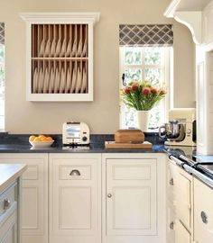 traditional blue and white kitchen dining open plan