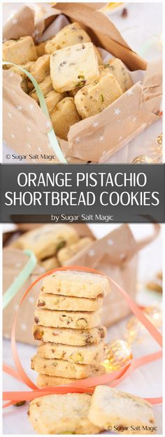 These Orange Pistachio Shortbread Cookies are super buttery and filled with crunchy pistachios and the fresh hit of orange. #shortbread #christmascookies via @sugarsaltmagic