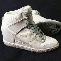 buy popular 3c5f5 014b7 Nike Shoes   Nike Sky Hi Dunk Wedges Sz 7   Color  Blue White