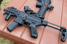 The ultra-compact MPX k is much easier to maneuver indoors than an standard defense rifle