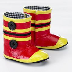 firefighter baby boots...