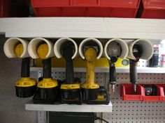 DIY Power Tool Organizer [Tutorial] : using pvc pipe!
