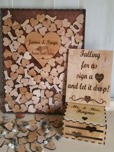 Wedding Guest Book Drop Box Country With Hearts Boots Alternate Guestbook Shadow 100